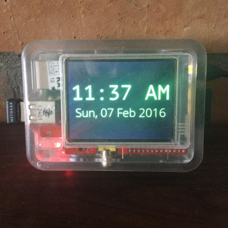 PieTime clock module